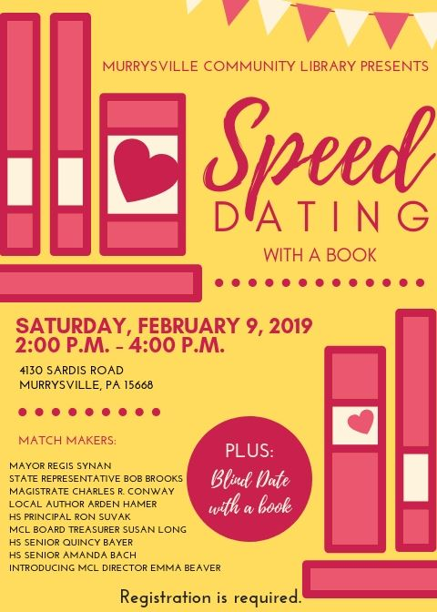 MCL Speed Dating with a Book flyer