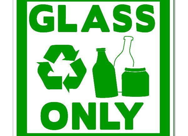 Recycling Glass Sign