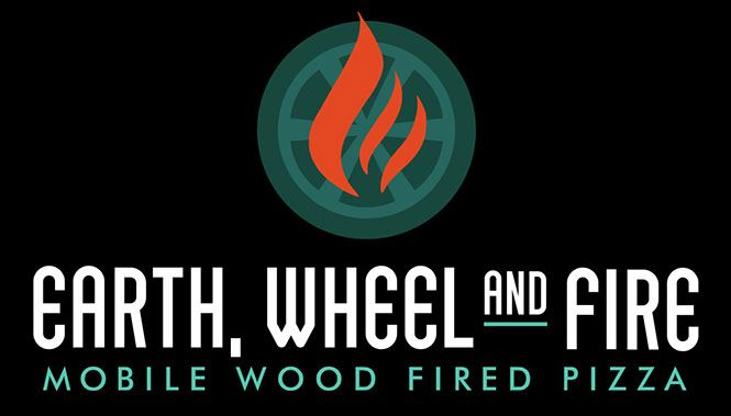 earth, wheel and fire logo