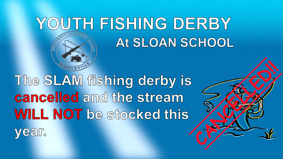 Youth Fishing Derby 5-6-20 Cancelled Slide1