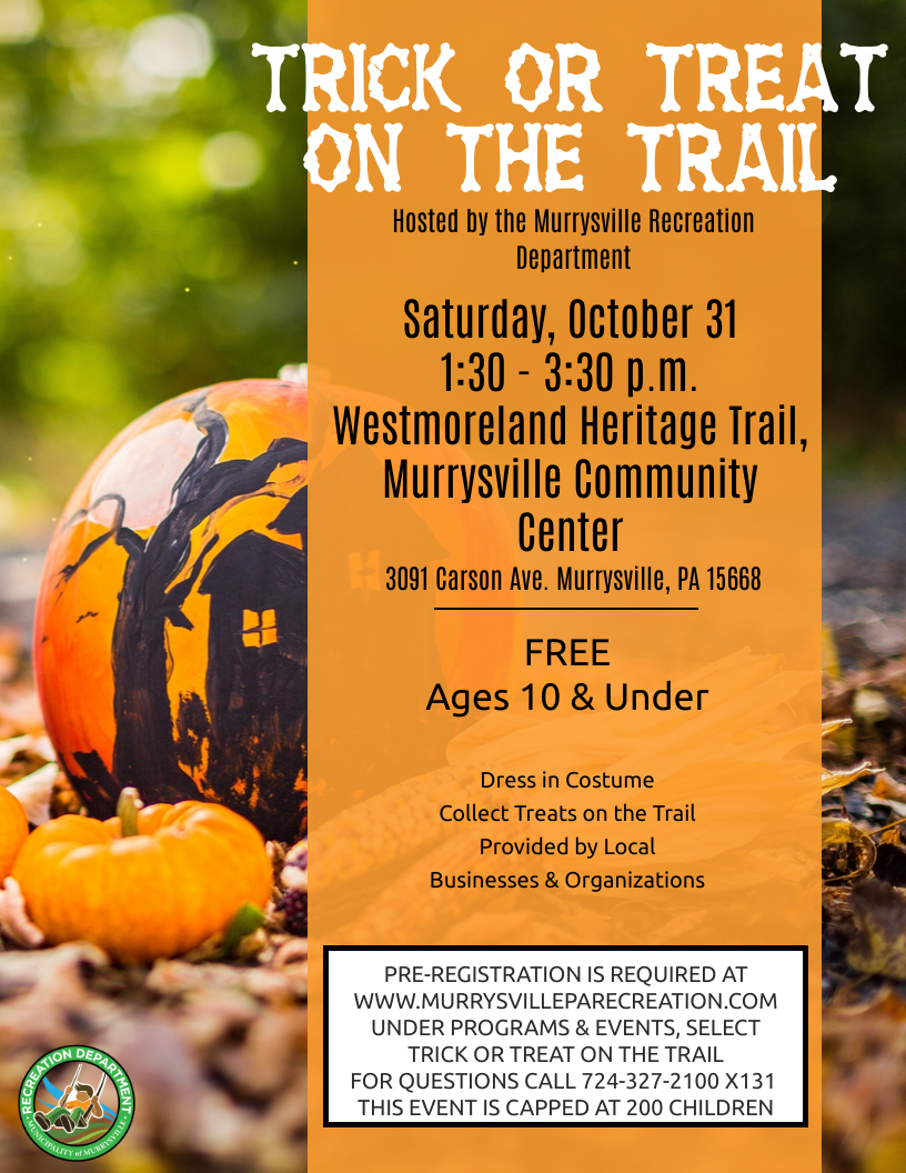 Trick or Treat on the Trail Flyer 2020