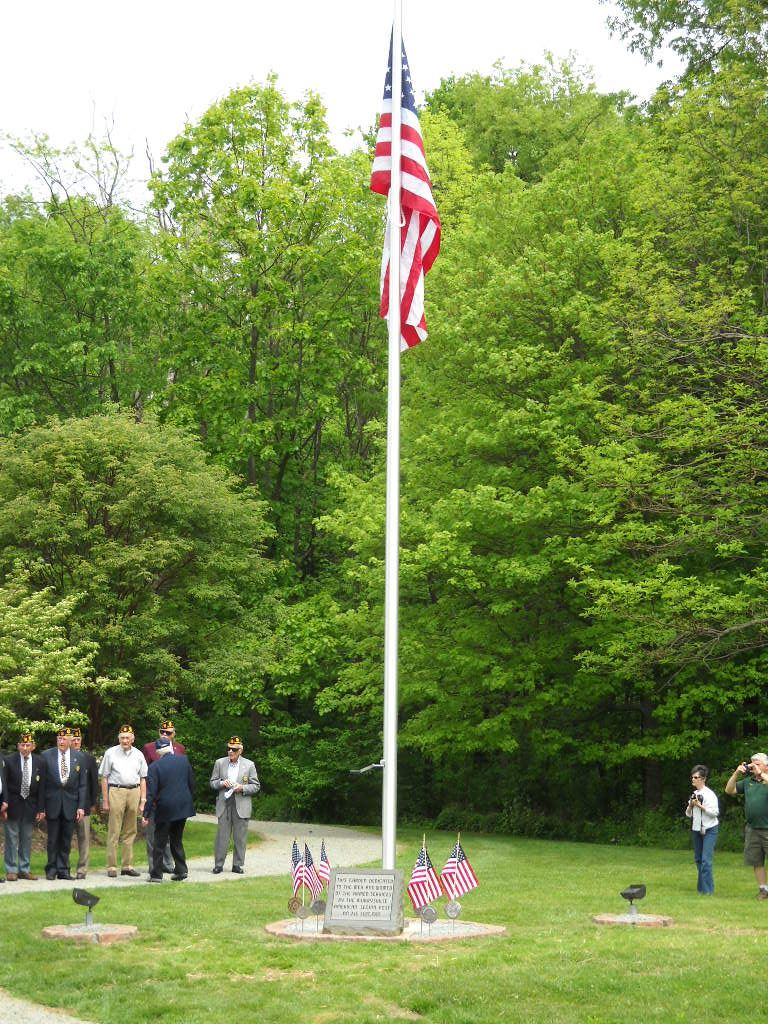 Legion Flagpole May 2012